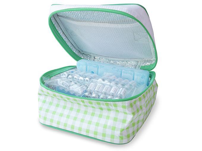 Insulin lässt sich in einer Kühltasche sicher und ohne Qualitätsverlust transportieren.