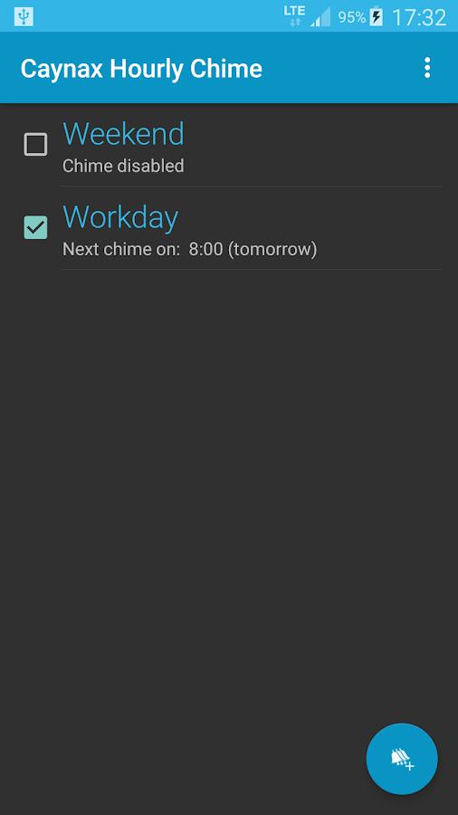 Hourly chime- screenshot