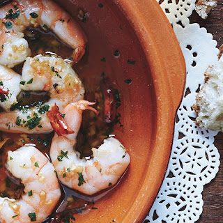 Garlic Shrimp with Chiles de Árbol.