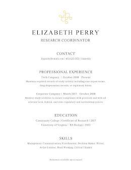 Elizabeth J. Perry - Resume item