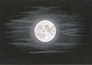 Photo: La pleine Lune à l'oeil nu, le 14 août 2011.