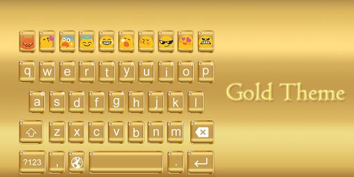 Emoji Keyboard-Gold