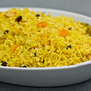 Basmati Pilaf with Dried Fruits and Almonds.