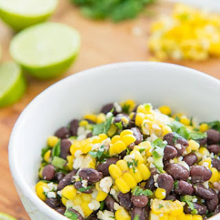 Mexican Street Corn Salad with Black Beans.