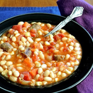 Bean Stew with Sausage and Corn