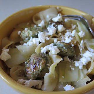 SAUSAGE, PASTA, AND CABBAGE.