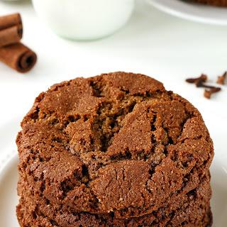 Paleo Gingerbread Cookies (vegan option, grain-free, gluten-free, dairy-free).