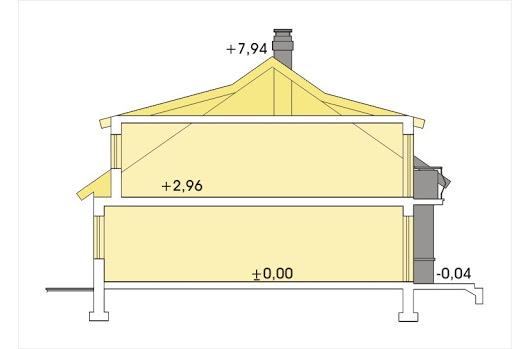 Perełka segment skrajny lewy - Przekrój