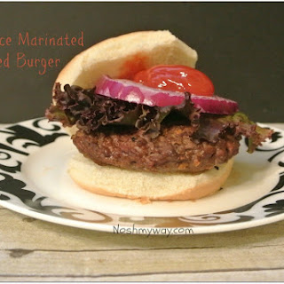 Soy Sauce Marinated Grilled Burgers.