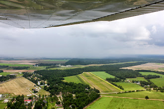 Photo: Don't think I care to fly a left pattern though.  Right downwind to base for 36.