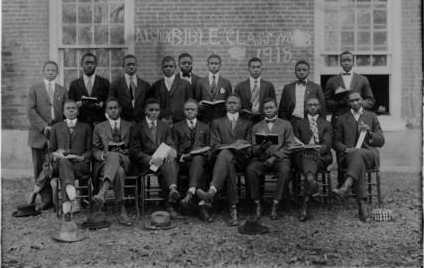 Bible Study in Alcorn, Miss., ca. 1918.
