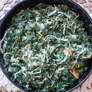 Sauteed Kale with Kimchi
