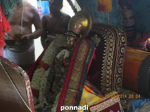 Photo: special vasthram, garlands for emperumAnAr offered at the mutt