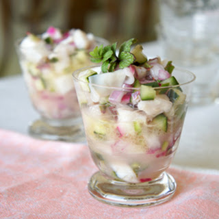 Spearmint And Cucumber Ceviche.