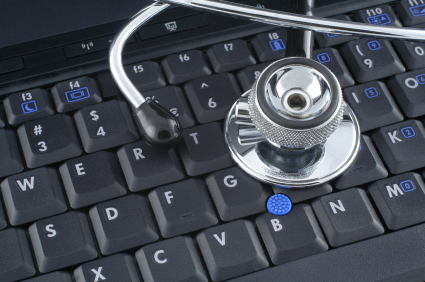 computer keyboard with stethoscope - cc image by jfcherry on Flickr