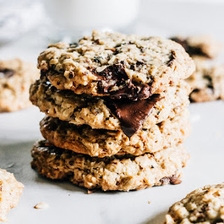 Toasted Coconut and Chocolate Chunk Oatmeal Cookies