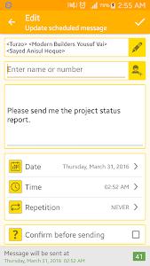 SMS Scheduler screenshot 2