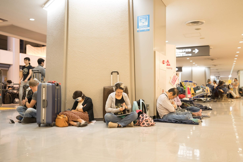 Narita Airport typhoon2