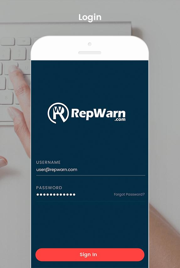 RepWarn- screenshot