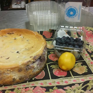 "Fresh Blueberry Cheesecake (from ""Miss Daisy's Blue Ribbon Desserts, p.96"")."