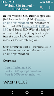 Website SEO Tutorial Lessons- screenshot thumbnail