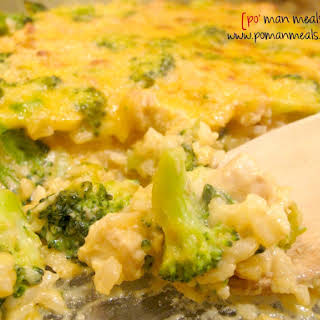 Cheesy Chicken, Rice And Broccoli Casserole.