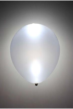 LED-ballong, silver 5st