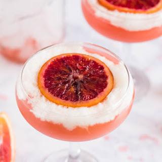 A Blood Orange Pisco Cocktail.