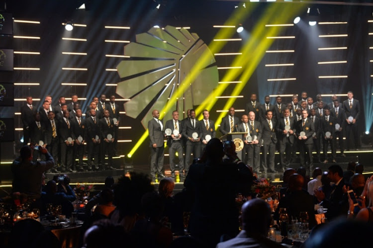 Kaizer Chiefs players during the Kaizer Chiefs end of season awards evening at Theatre on the Track, Kyalami on June 01, 2017 in Johannesburg, South Africa.