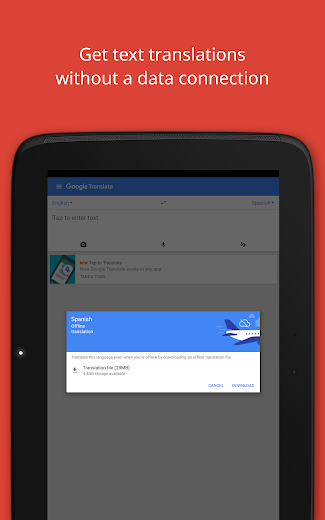 Screenshot 7 for Google Translate's Android app'