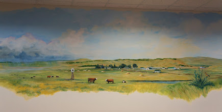 Photo: Mural on the conference room wall.