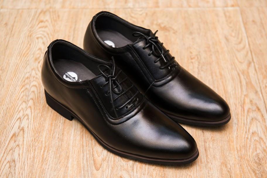 Giày tăng chiều cao da bò thật TC06