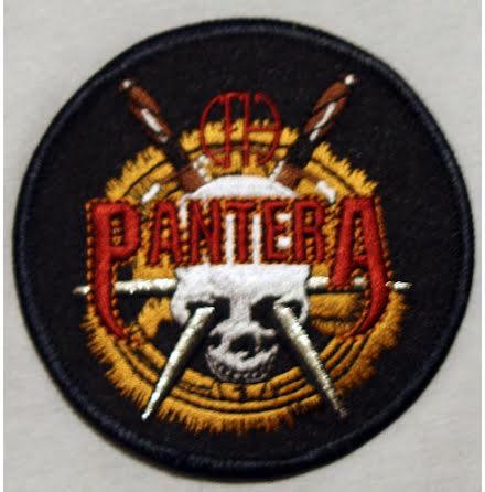 Pantera - Skull & Swords - Tygmärke