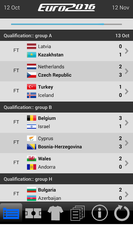 LiveScore Euro 2016- screenshot