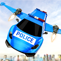 Flying Police Limo Car Robot: flying car games icon