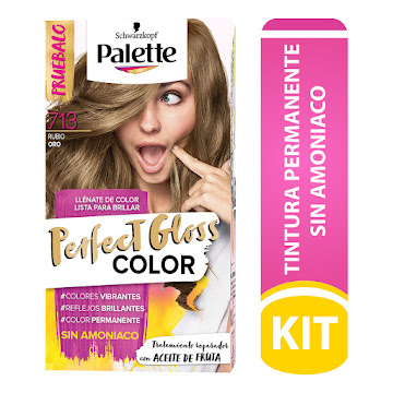 TINTE PALETTE PERFECT GLOSS SIN AMONIACO 713 RUBIO ORO TUB 33ML