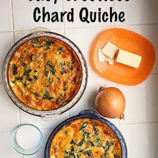 Easy Crustless Chard Quiche.
