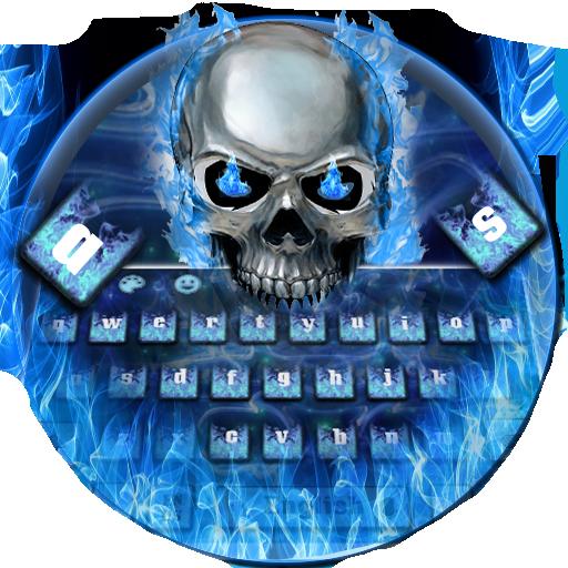 Blue Skull Keyboard Theme