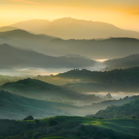 East Bay Hills fog by Gary Pope - Landscapes Mountains & Hills ( hills, east bay, fog, california, oakland, andscape )