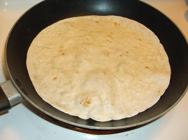 For each individual fajita: In nonstick skillet, over medium heat, warm and lightly crisp...