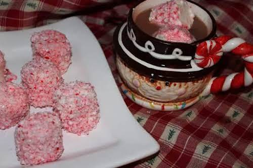 """Click Here for Recipe: Peppermint Marshmallows """"Need a use for those leftover..."""