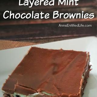 Layered Mint Chocolate Brownies.