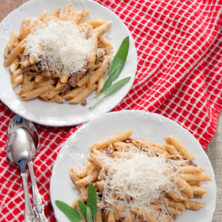 Penne with Creamy Guanciale Sauce Recipe