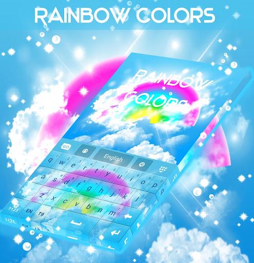 彩虹色GO键盘