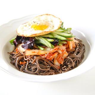 Korean Spicy Kimchi Noodles.