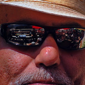 Reflection by David Clare - People Street & Candids ( reflection, danny b, summer, self portrait, singer, sunglasses,  )