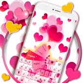 Teclado do rosa do amor