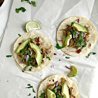 Mexican Slow Cooker Pork Carnitas Tacos.