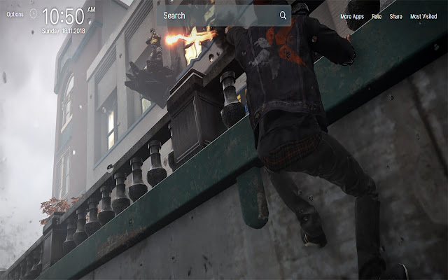 inFamous Second Son Wallpapers New Tab