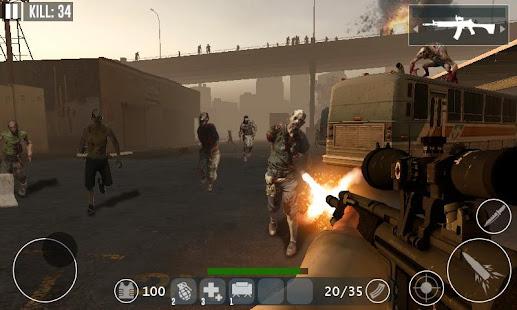 Dead Zombie Frontier War Survival 3D v1.0 APK Full